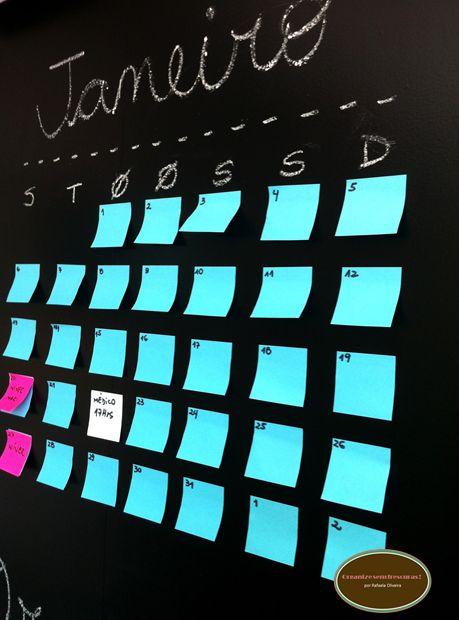 Organize sem Frescuras | Rafaela Oliveira » Arquivos » Faça você mesmo- parede de lousa com papel contact: