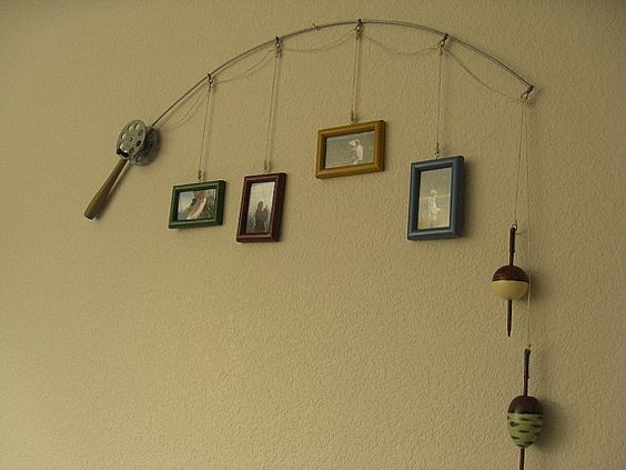 This would be cute in my hubbies office.  Ohhh...birthday ideas.  I could frame the pics of him and his girls..