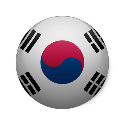 Flag Of South Korea Classic Round Sticker Zazzle Com South Korea Flag Sticker Flag Flag