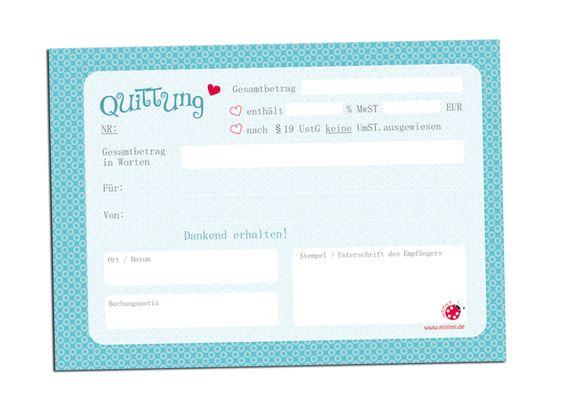 ★ QUTTUNGSBLOCK ★ A6 / 50 Blatt millimi von millimi auf DaWanda.com