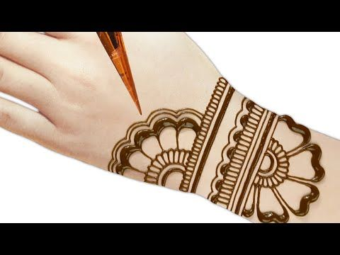 back hand mehndi design easy and beautiful