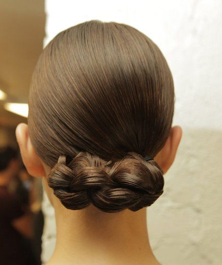Your Go-To Style: Bun | If you're like us, you're probably pulling your hair into the same monotonous ponytail most mornings out of habit. We turned to the runways at New York Fashion Week for some inspiration on three new ideas that won't cost you your morning but will freshen up your look for fall.