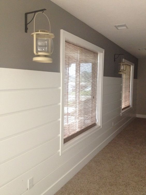 Shiplap Wall Treatment Using Mdf 3 4 Of The Way Up The