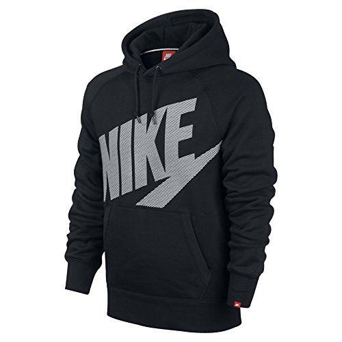 NIKE Nike Men'S Aw77 Fleece Nike Logo Pullover Hoodie-Med Blue. #nike #cloth #