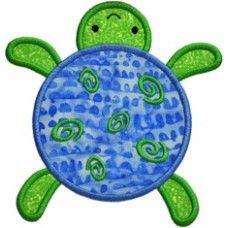 Swirly Sea Turtle Applique