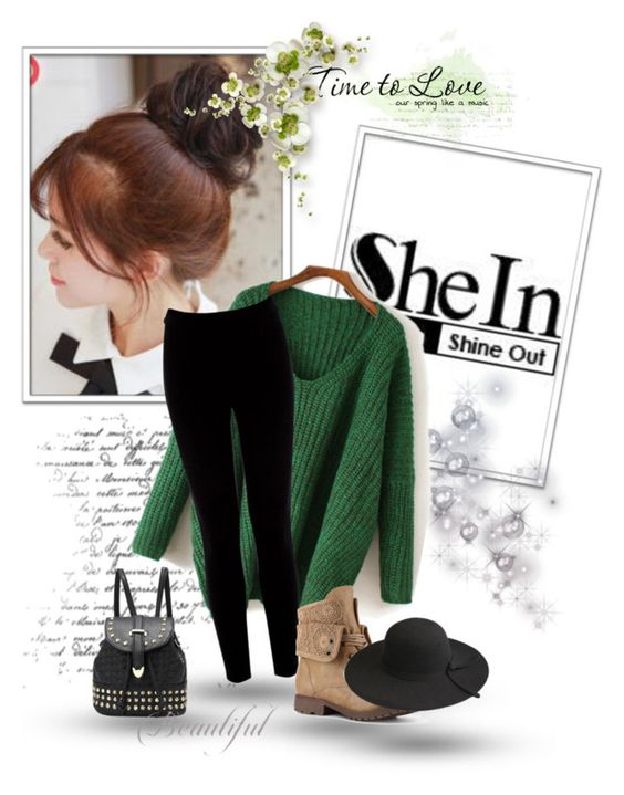 """""""Sheinside (78)"""" by gabbycastronovo ❤ liked on Polyvore featuring Pin Show and Warehouse"""