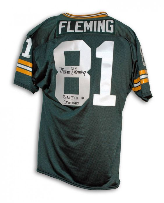 """AAA Sports Memorabilia LLC - Marv Fleming Green Bay Packers Autographed Green Throwback Jersey Inscribed """"SB I II Champs"""", $269.95 (http://www.aaasportsmemorabilia.com/nfl/green-bay-packers/marv-fleming-green-bay-packers-autographed-green-throwback-jersey-inscribed-sb-i-ii-champs/)"""