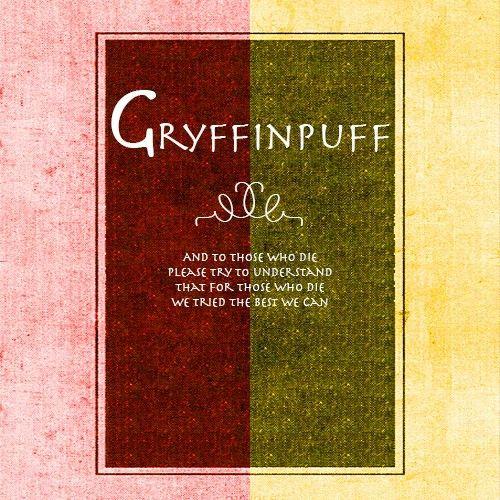 Gryffinpuff Regrets Chalkboard Quote Art Hufflepuff Pride Book Cover