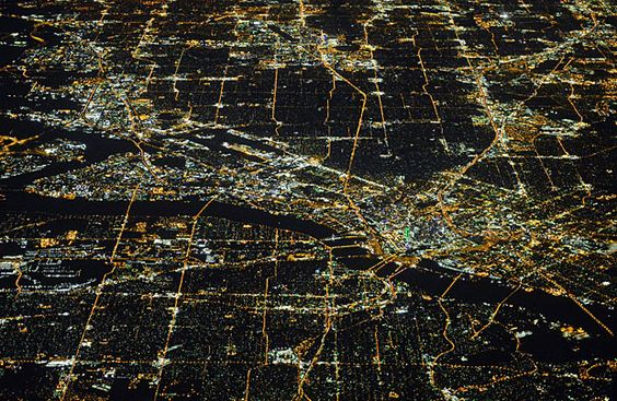 Pro sports photographer Mark Rebilas caught this photo of Dallas from 35,000 feet up.