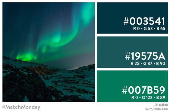 Lasst euch zum heutigen #MatchMonday von den Polarlichtern inspirieren. :) Viel Spaß damit, und eine tolle Woche.