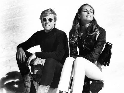 Photo: Downhill Racer, Robert Redford, Camilla Sparv, 1969 : 24x18in