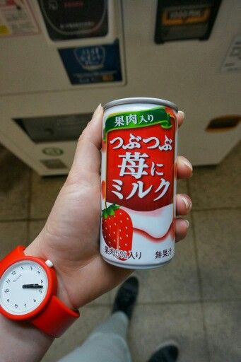 #vendingmachineadventures milky strawberry thing from a can!