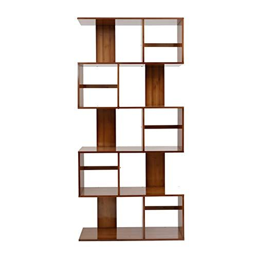 Zhirong Bamboo Bookcase 2 3 4 5 Tier Shelves S Shape Bookshelf Free Standing Shelving Storage Displ Bookshelves In Living Room Small Bookshelf Wood Bookshelves