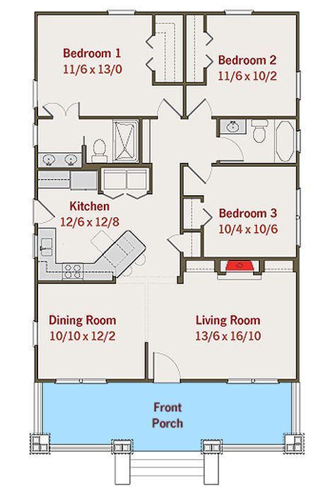 Plan 50105ph Adorable Bungalow House Plan Projetos De Casas Simples Plano De Casa Planta De Casas Simples