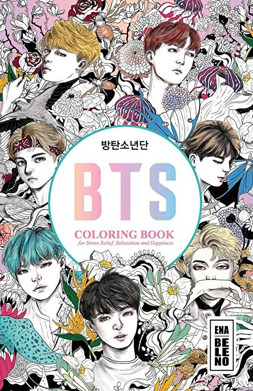 Free Bts Coloring Book For Stress Relief Relaxation And Happiness 5 5 In By 8 5 In Size Kpop
