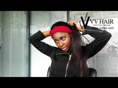 Fresh new looking of VV straight hair wigs bun