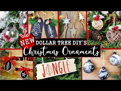 8 New Dollar Tree Christmas Diy Ornaments Easy And Inexpensive Christmas Decor Ideas In 2020 Diy Christmas Ornaments Easy Christmas Diy Diy Christmas Ornaments