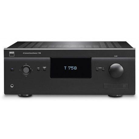 NAD T 757 - Receptor de A/V de altas prestaciones de 7.1 canales. 7 x 120 W. Sistemamodular MDC. Circuiteria de salida Power Drive y sistema de proteccion Softclipping exclusiva de NAD.Descodifica Dolby Digital, Dolby Digital EX, DolbyPrologic 2x,Dolby TRUE HD,DTS HD Master Audio, DTS,DTS ES,DTS 96/24,DTS Neo… D/A de alta calidad.Sintonizador AM/FM con funciones RDS y 30 presintonias.4 entradas HDMI. #homecinema