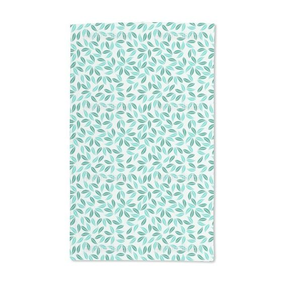 Uneekee Tropical Leafage Hand Towel, Blue