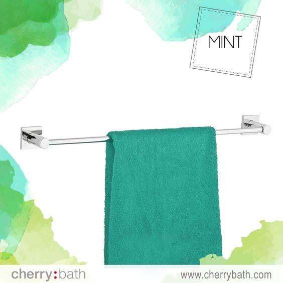 Descubre este #toallero de la colección #Mint, te permitirá mantener ordenadas las toallas de mayor tamaño. #towel #decor #bath #bathroom #design #madeinspain #towelrail #towelbar #baño