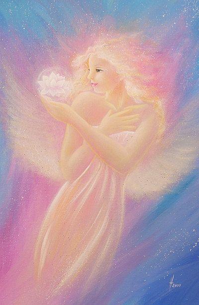 Limited angel art photo bloom abstract angel von HenriettesART