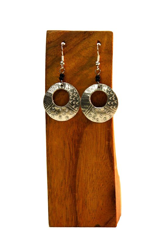 Style that Gives Back: Aluminum and Brass Hollow Earrings