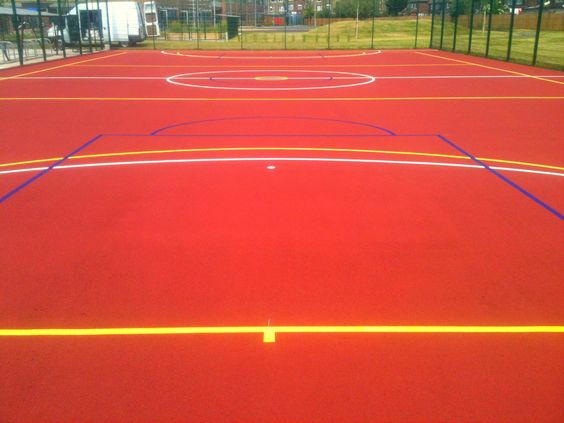 Basketball court painting costs muga sports line marking for Sport court costs