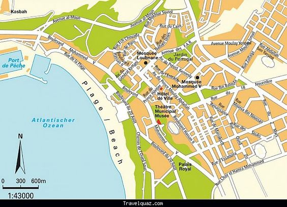 awesome Map of Agadir