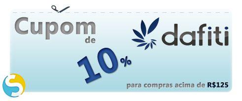 Aproveite cupom de 10% de desconto para compras acima de R$ 125 no site da Dafiti. Por tempo limitado.