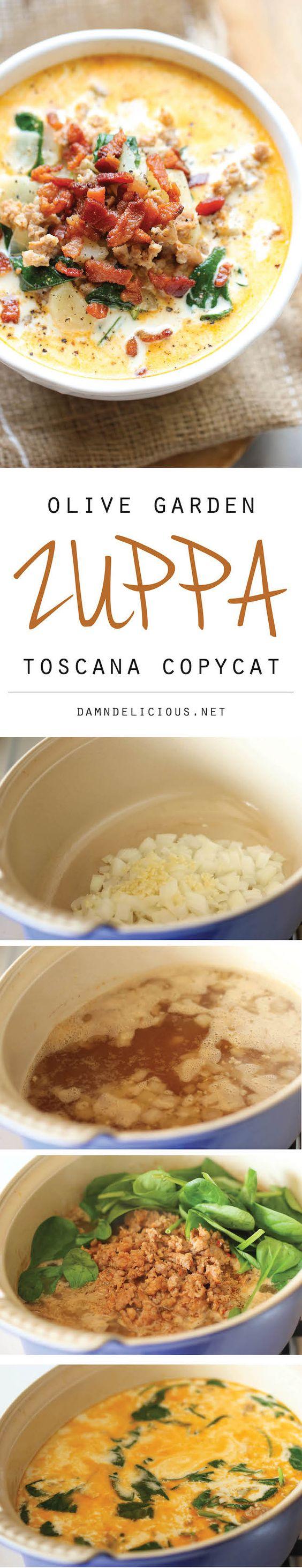 Olive Garden Zuppa Toscana Copycat Recipe Pinterest Gardens Spinach And Olive Gardens