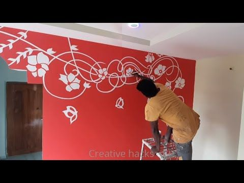 Simple Wall Paint Designs For Living Room Interior Wall Design For Hall Youtube Wall Designs For Hall Wall Paint Designs Wall Texture Design