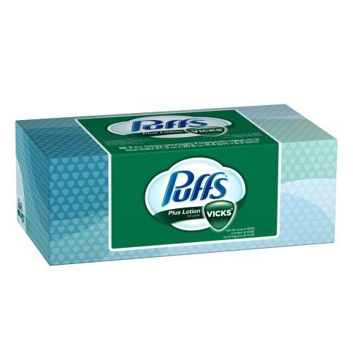 Puffs Plus Lotion with the Scent of Vicks Facial Tissues, 88-Count Family Box (Pack of 24) (Packaging May Vary) by Puffs. Save 35 Off!. $51.65. From the Manufacturer                        Soothing comfort when you need it most! Nonmedicated Puffs® Plus with the scent of Vicks® has a touch of Mom in every tissue. When your family is suffering from sore noses, use the only tissue with a combination of soothing lotion and the comforting scent of Vicks.                                      ...