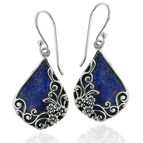 Lapis Lazuli Earrings | Dhanalakshmi Jewellers