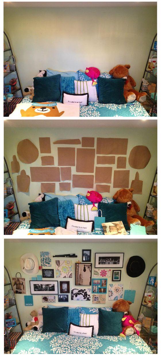 Adorable eclectic frames bedroom