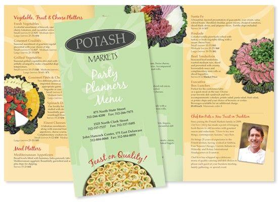 Catering Brochure   Print design   Pinterest   Catering menu ...