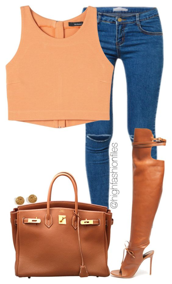 """""""Casual Wednesday"""" by highfashionfiles ❤ liked on Polyvore featuring Hermès, Altuzarra and Chanel"""