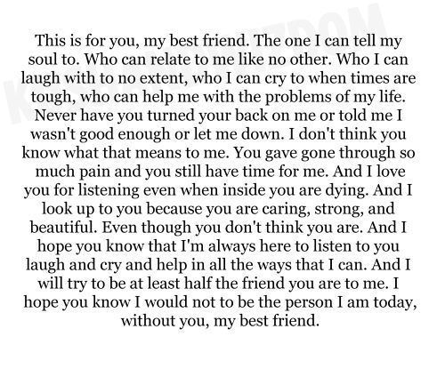 Image Result For Best Friend Quotes That Make You Cry Tear Jerkers Friends Quotes Letter To Best Friend My Best Friend Quotes