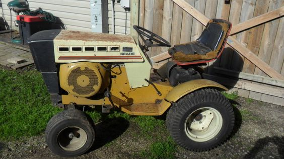 Sears Ss12 Garden Tractor : Tractors decks and gardens on pinterest