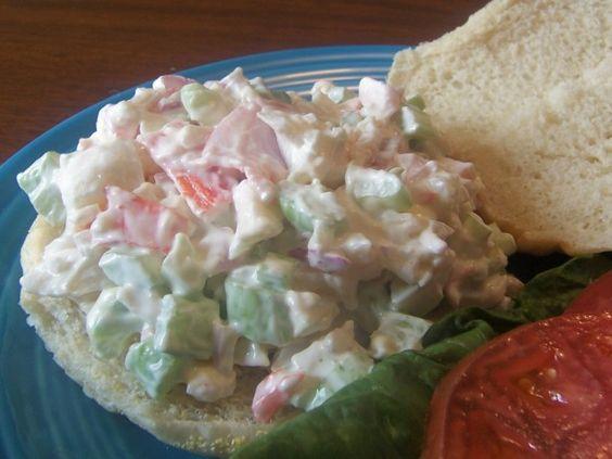 Fake Crab Salad Sandwiches