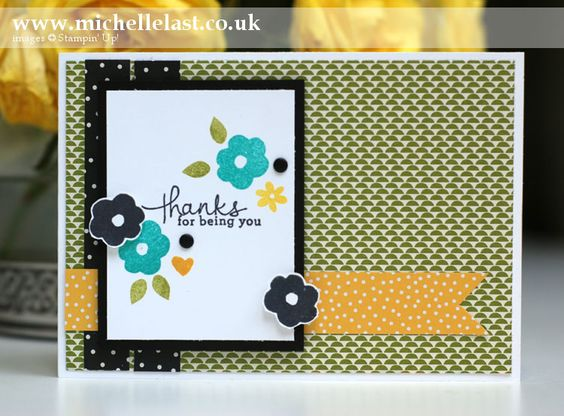 Sketch Challenge using Endless Thanks from Stampin' Up! - Stampin' Up! Demonstrator Michelle Last: