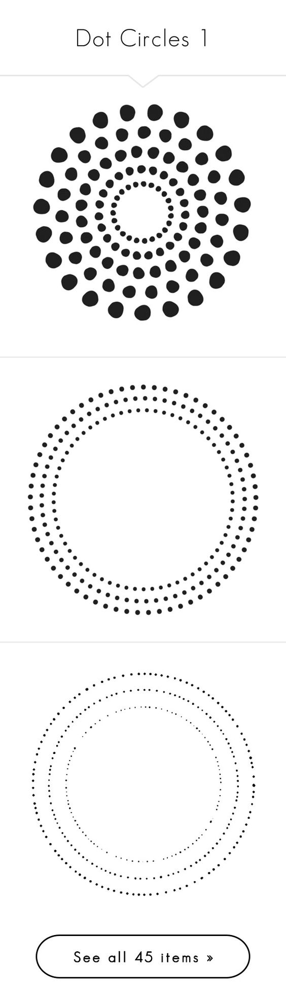 """Dot Circles 1"" by awsewell ❤ liked on Polyvore featuring round, circles, circle, circular, dots, backgrounds, effects, filler, overlays and borders"