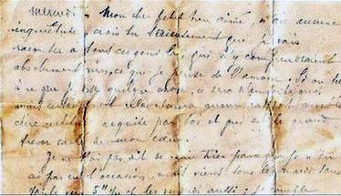 200 year old Love letter found in chair...My dear, I cover you with kisses and caresses until… I need you in this moment of desire. I love you.""