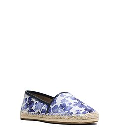 Kendrick Floral-Print Canvas Slip-On Espadrille  by Michael Kors