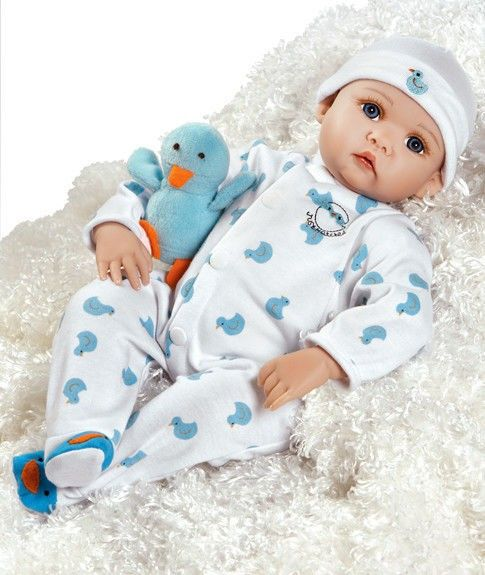 Realistic Baby Doll, Just Hatched, 18-inch GentleTouch Vinyl, Weighted Body | Paradise Galleries