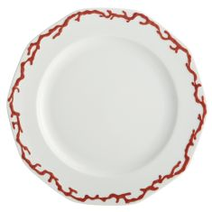 Tony Duquette by Mottahedeh's BARRIERA CORALLINA RED DINNER PLATE