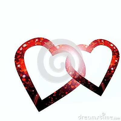 Two hearts on white by Graciela Rossi, via Dreamstime