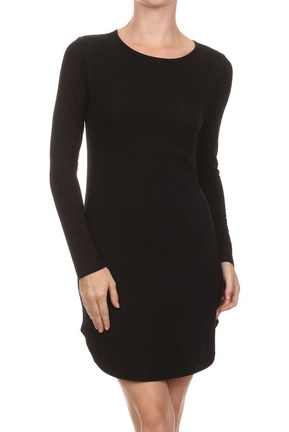 Sexy Clubwear Curved Hem Bodycon Mini Cocktail Fited Short Dress