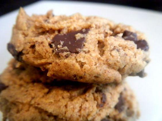 Dark Chocolate Chunk Almond Butter Cookies