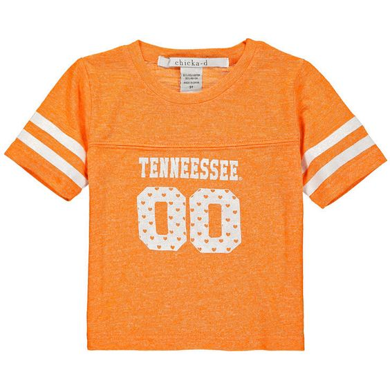 Tennessee Volunteers chicka-d Girls Toddler Boxy Cropped Top - Tenn Orange - $22.39