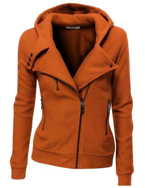 Doublju Women's Fleece Zip-Up High Neck Jacket at Amazon Women's ...